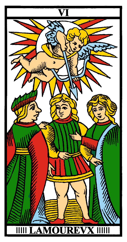 Tarot L'Amoreux L'Amoreux, la carta del Enamorado arcanos arcanos mayores Tarot